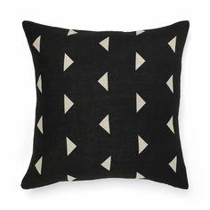 AURA Home, Winter 2014, Triangle Cushion in Black.