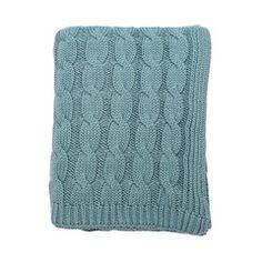 Sea Glass Large Cable Knit Throw | Bedroom inspiration and bedding decor | www.craneandcanopy.com