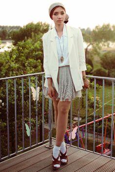 #white coat #2dayslook #alice257891 #whitejacket  http://pinterest.com/alice257891