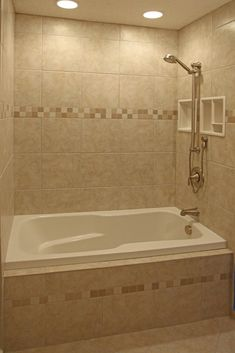 Charmant Tile Bathroom Shower Design Ideas Ceramic Recessed Lighting On Dimmer.  Nothing Like Having Lights Above You.
