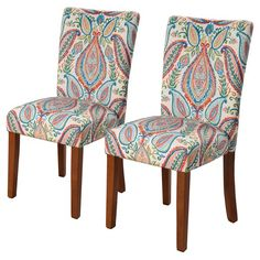 The Parsons Dining Chair comes in a beautiful assortment of solid and patterned colors, and also work well when you need extra seating in living room or den, as well. Durable wooden legs, comfortable cushioning, and good looks bring form and function together in your home.