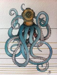 deep sea diver by maggiegeobax on Etsy, $30.00
