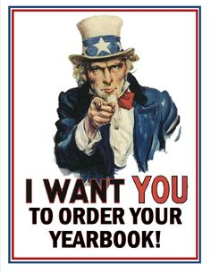 I want YOU to order your Yearbook!