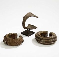 West Africa - Ivory Coast and Mali   Bracelets from the Dogon, Frafra and Dan people; bronze alloy.   Est. 200 - 300€ ~  (Oct '15)