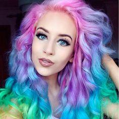 Peinado de arcoiris