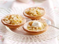 These delicate apple crumble tartlets are perfect served warm straight out of the oven with a scoop of ice-cream. Mini Tart Pans, Apple Filling, Self Rising Flour, Vanilla Yogurt, Apple Recipes, Food Inspiration, Nutrition, Baking, Oven