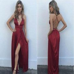 2018 Newest Hot Selling Elegant Women Red Lace Up Sexy Backless Deep V-neck Modest Prom Dress, PD0411 The dresses are fully lined, 4 bones in the bodice, chest pad in the bust, lace up back or zipper back are all available, total 126 colors are available. This dress could be custom made, there are no extra cost to do custom size and color. Description 1, Material: satin chiffon 2, Color: picture color or other colors, there are 126 colors are available, please contact us for more colors…