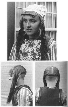 Haardracht Marken 1943 (Hair fasion from Marken, Netherlands).    From Het Streekdrachten Boek by Hanneke van Zuthem & Adriana Brunsting, Waanders Publishers, Zwolle.