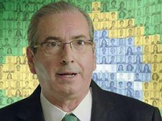 O presidente da Câmara dos Deputados, Eduardo Cunha (PMDB-RJ) em pronunciamento na TV