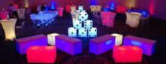 Glow Casino themed decor.