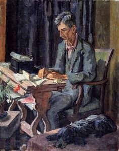 Portrait of Leonard Sidney Woolf by Vanessa Bell. Virginia Woolf's husband painted by her sister.
