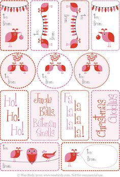 free xmas tags download