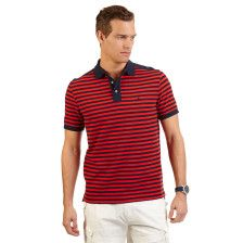 Striped Performance Deck Polo Shirt - Poppy Flower  17-1664. Get Sizzling discounts up to 50% Off at Nautica using Coupon and Promo Codes.