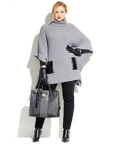 Plus Size Sweater Poncho #plus #size #fall #fashion