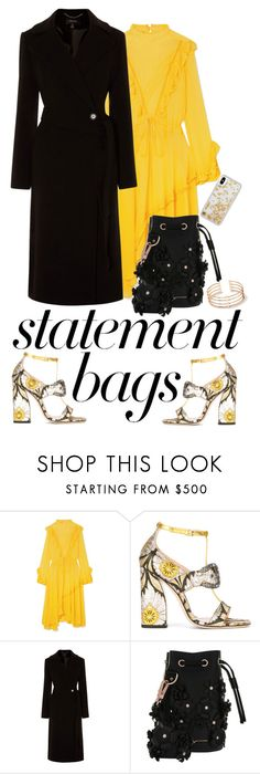 """Statement Baggie"" by brunettediary ❤ liked on Polyvore featuring Preen, Gucci, Karen Millen, Marina Hoermanseder, Rebecca Minkoff and statementbags"