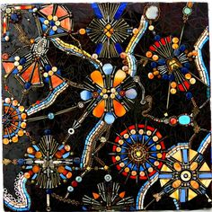 Stained Glass Mosaic Art/ Wall Hanging/ Wall by dannimacstudios