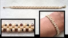 Beading4perfectionists : Stitch nr. 2 : Right Angle Weave one row : Spee...