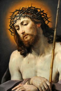"Christ With Crown of Thorns by Guido Reni, ""I see Jesus in every human… Jesus Mother, God Jesus, Caravaggio, Catholic Art, Religious Art, Jesus Crown, Jesus E Maria, Jesus Christ Images, Jesus Christus"
