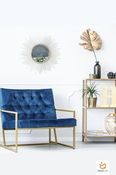 Instantly warm up your living room with brass accents and conversation-starting furniture pieces. Stairs In Living Room, My Living Room, Living Room Decor, Scandinavian Living, Living Furniture, Furniture Ideas, Living Room Lighting, Room Lights, Home Decor Styles