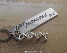 Orphan Black DNA They Patented Us Hand Stamped Necklace
