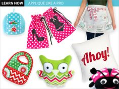How to Appliqué Like a Pro   Sew4Home- With appliqué, you're free to incorporate any kind of graphic into your project. There are a variety of different ways to execute the technique; read on to find the one that's right for you.