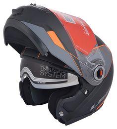 9b4b8aa0 LS2 FF 386 Flip-Up Helmet with Double Visor Cool Motorcycle Helmets,  Bicycle Helmet