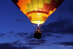 Hot air balloon against a dark sky Contrast Photography, Color Photography, Landscape Photography, Jackson Stone, Air Balloon, Balloons, Spring Into Action, Dark Skies, Photography Classes