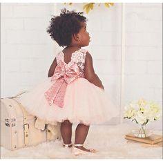 NEU Mädchen Kinder Blumenmädchen Pailletten Bow-knot Kommunions Festlichkleid