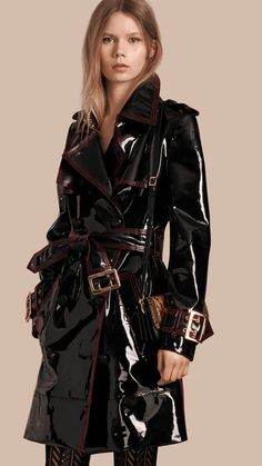 Unlined Patent Leather Trench Coat | Burberry