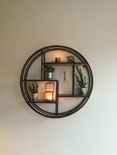 Circle Wall Shelf, Wall Shelves, Home And Garden, Mirror, House, Furniture, Home Decor, Homemade Home Decor, Decoration Home
