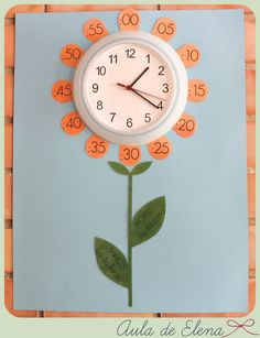 attach numbers to clock with twist on lids
