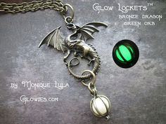 Glow Lockets™ Dragon Orb Bronze Green. Starting at $1 on Tophatter.com!