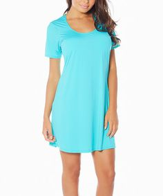 Look what I found on #zulily! Aqua Butterknit Nightgown - Women & Plus #zulilyfinds