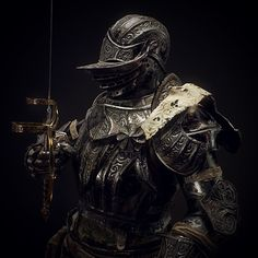 I always wanted to try my hand at making an armour set or do some character type design, and decided to invest time into a fun project! I was always a little bothered by the named NPC character Prince Ricard in Dark Souls and how his appearance had him Medieval Armor, Medieval Fantasy, Fantasy Armor, Dark Fantasy Art, Dark Souls 3, Demon's Souls, King Of Swords, Armadura Medieval, Armor Concept