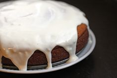 Pumpkin Cake with Cream Cheese Glaze