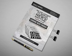 """Check out new work on my @Behance portfolio: """"Newspaper Launch Flyer"""" http://be.net/gallery/29018331/Newspaper-Launch-Flyer"""