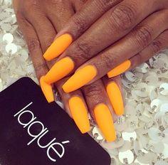 New Nails Orange Matte Nailart 54 Ideas French Nails Glitter, Fancy Nails, Trendy Nails, Nice Nails, Gorgeous Nails, Matte Nails, Stiletto Nails, Coffin Nails, Acrylic Nails