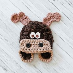 toddler moose hat crochet baby boy hat photography prop brown max the
