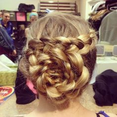 Rose braid cute up do for prom?