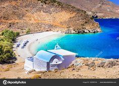 Beach at Astypalaia island Dodecanese Kai, Greek Language, Greece Travel, Greek Islands, Beautiful Beaches, Stock Photos, Water, Outdoor, Colors