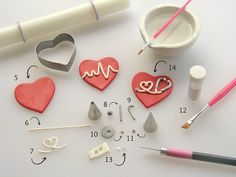 Heartbeat fondant tutorial step 3