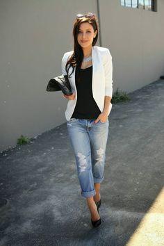 22d5e6541 28 mejores imágenes de Blazer Blanco Mujer en 2019 | Fashion clothes ...