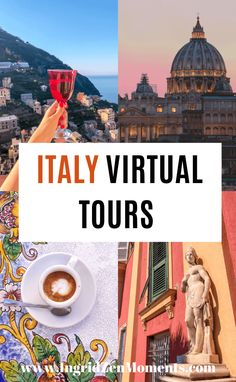 Italy virtual tours you will want to take when you cannot travel to Italy. See the most beautiful Italy destinations from your couch and plan your future travel trip to Italy. Italy's most beautiful cities and top tourist destinations. Get your Italy travel bucket list ready for the future and learn something new! #italy #virtual #tours Travel Tips For Europe, Italy Travel Tips, Italy Honeymoon, Italy Vacation, Virtual Travel, Virtual Tour, Italy Destinations, European Road Trip, Italy Tours