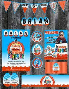 Kinder Surprise Theme Party Set  Printable by LemonSquaredLemons