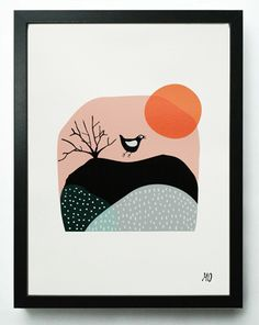 Sunset Bird - a new print by my very lovely and talented sister-in-law!