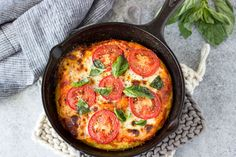 Skillet Margarita Polenta Pizza – a quick easy twist to the classic Italian Margarita pizza. It's vegetarian, gluten-free, clean eating, and with easy substitution can also be made vegan….whoa! o.k. lets just say this pizza is the perfect choice for whatever your preferred style of eatingmight be. (and don't forget healthy…it's that too!)
