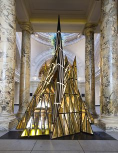 Gareth Pugh for V&A.  Christmas Tree installation 2014