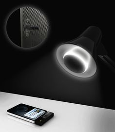 SoundBulb - LED light bulb that hosts a transformer, a speaker, and a wireless receiver to stream music from your iPod, PC, mobile phone, etc.