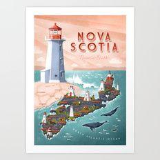 NOVA SCOTIA Art Print