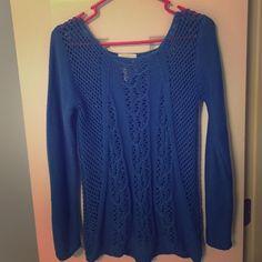 Between me & you XS blue sweater Between me & you XS blue sweater, 100% cotton Between me & you Sweaters